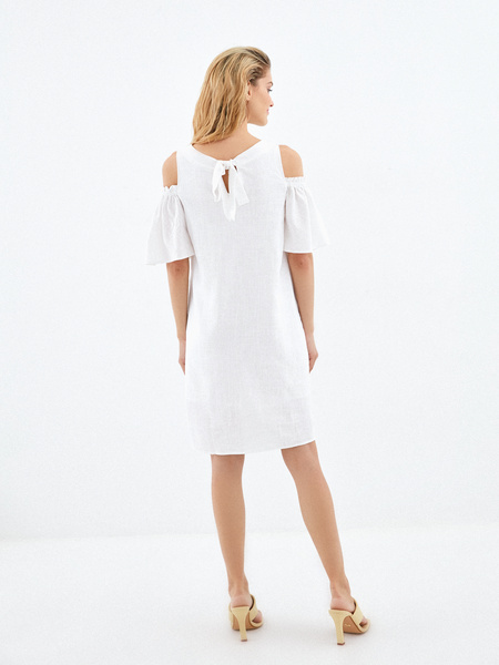 Платье с открытыми плечами - фото 6