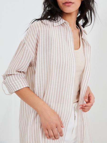Удлиненная блузка из хлопка и льна - фото 3