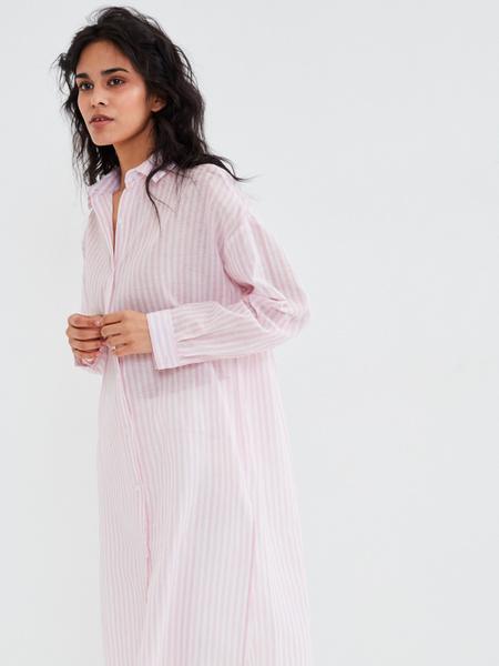 Удлиненная блузка из хлопка и льна - фото 1