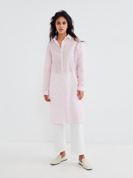 Удлиненная блузка из хлопка и льна - фото 2