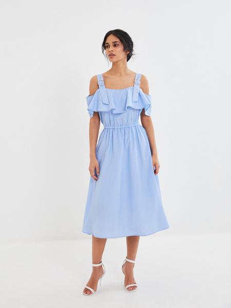 Платье с воланами - фото 1