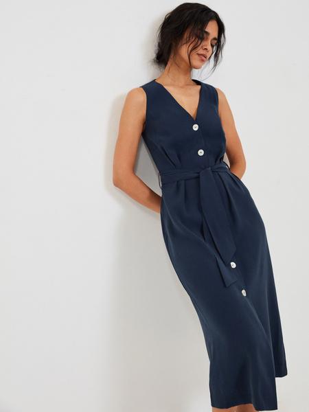 Платье с V-образным вырезом - фото 1