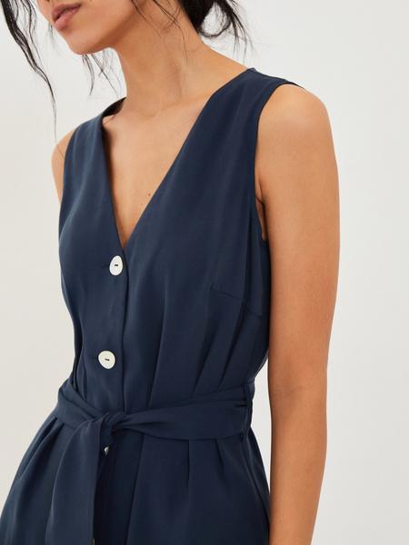 Платье с V-образным вырезом - фото 3