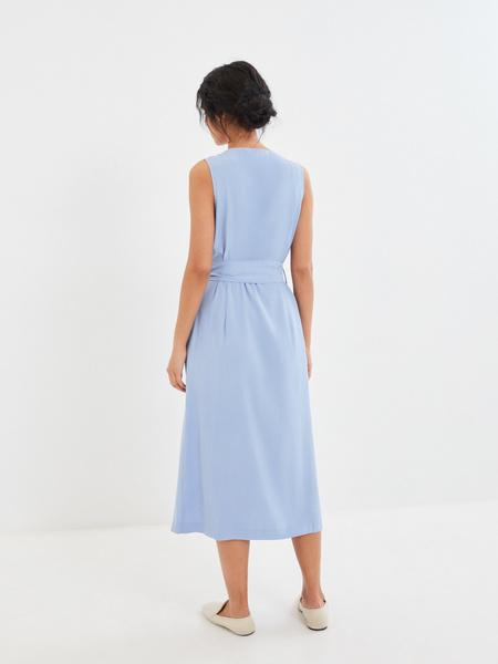 Платье с V-образным вырезом - фото 4
