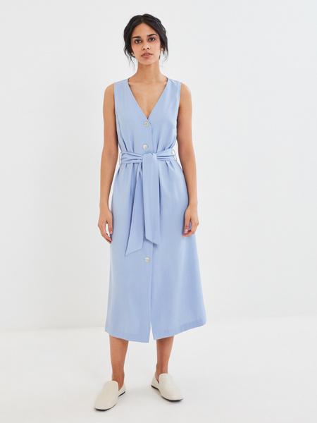 Платье с V-образным вырезом - фото 5