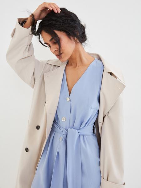 Платье с V-образным вырезом - фото 6