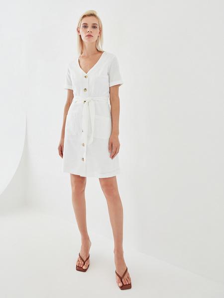 Платье с поясом - фото 1