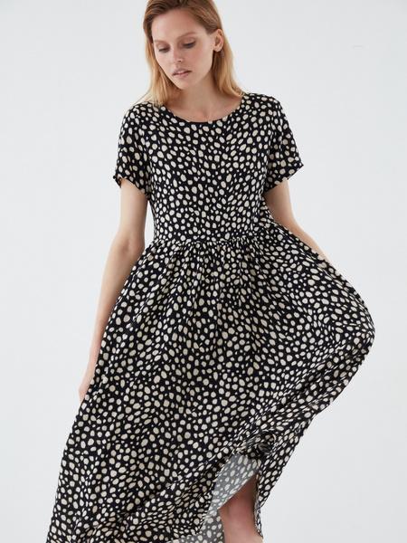 Платье-миди с принтом - фото 1