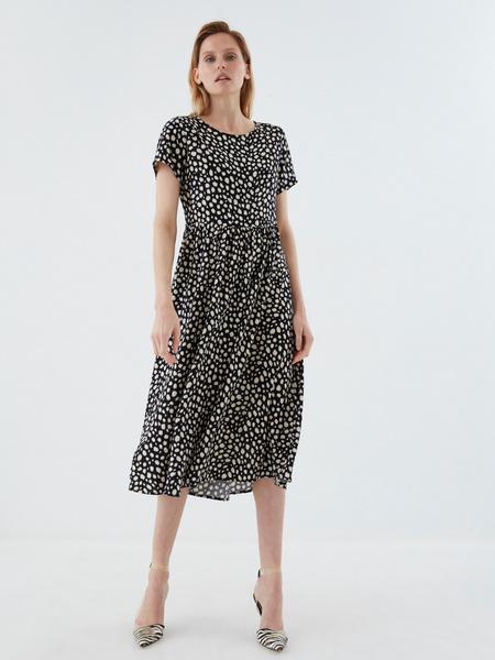 Платье-миди с принтом - фото 2