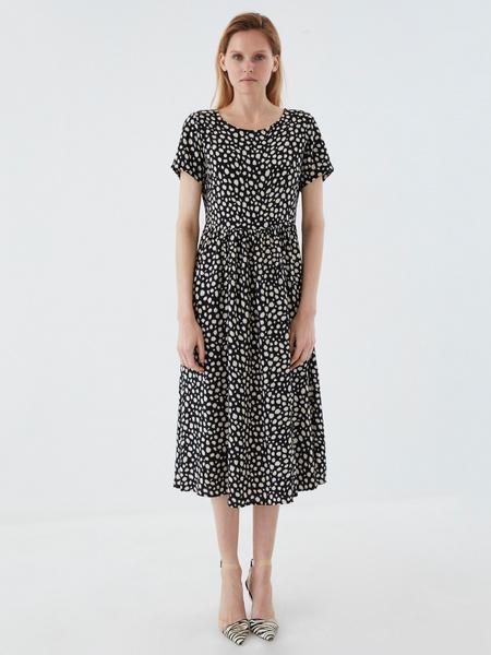 Платье-миди с принтом - фото 5