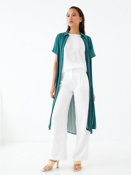 Платье-рубашка на поясе - фото 8