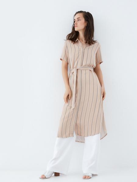 Платье-рубашка на поясе - фото 7
