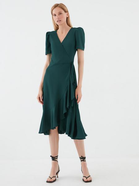 Струящееся платье с воланами - фото 4