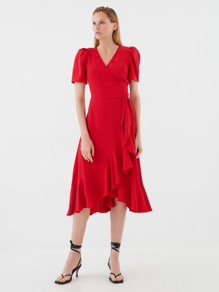 Струящееся платье с воланами - фото 6