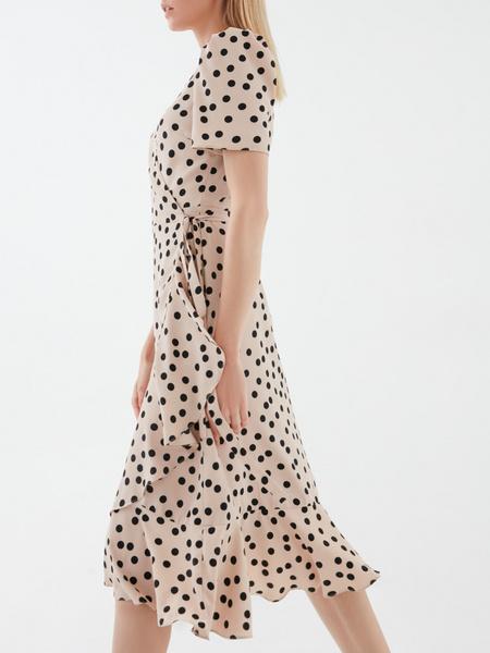 Струящееся платье с воланами - фото 3