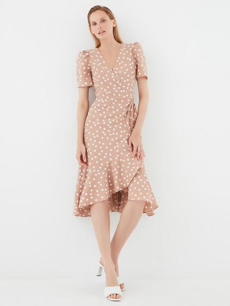 Струящееся платье с воланами - фото 1