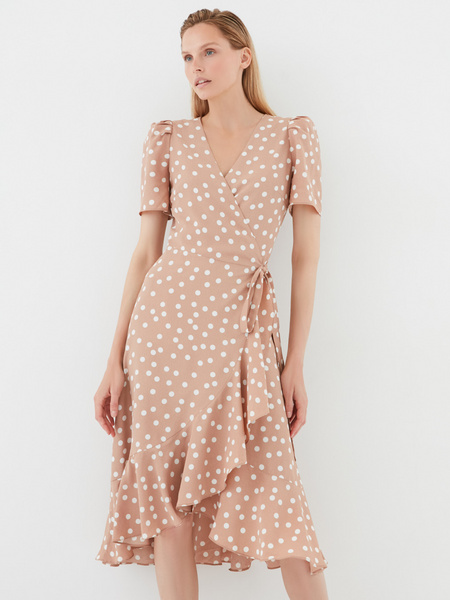 Струящееся платье с воланами - фото 2