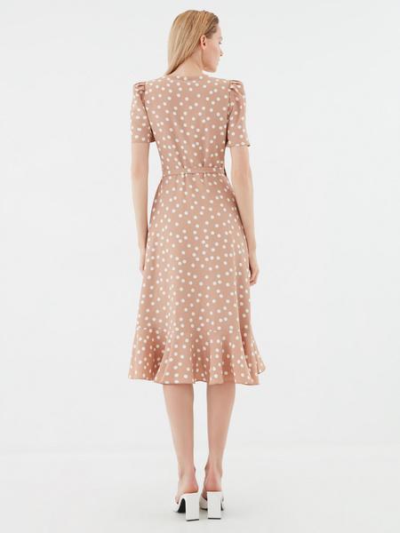 Струящееся платье с воланами - фото 5