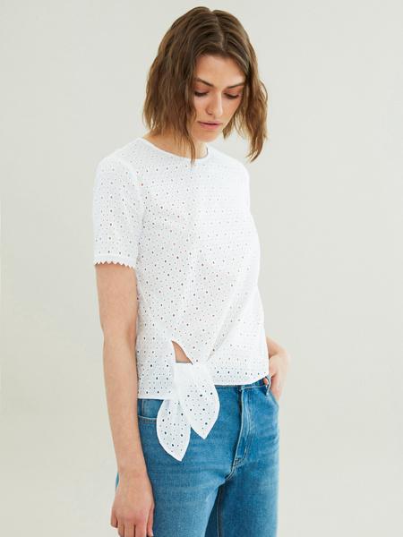 Блузка с узлом на боку - фото 1