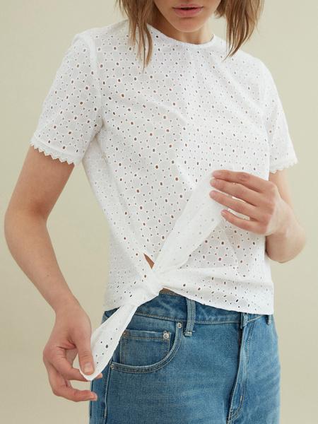 Блузка с узлом на боку - фото 2