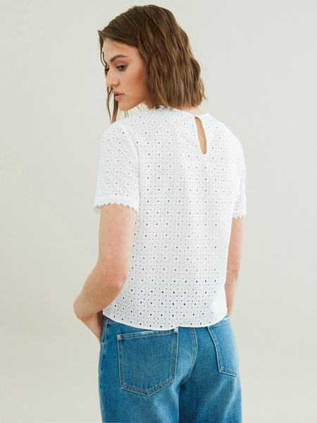 Блузка с узлом на боку - фото 4