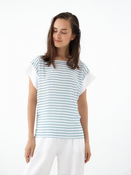 Блузка в полоску - фото 2