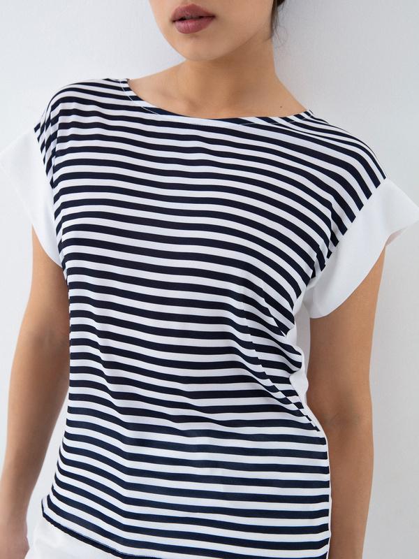 Блузка в полоску - фото 3