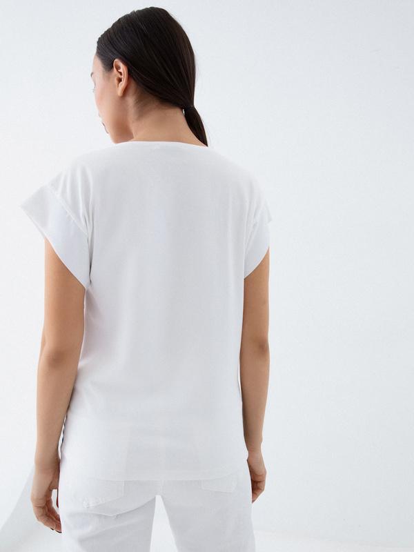 Блузка в полоску - фото 4