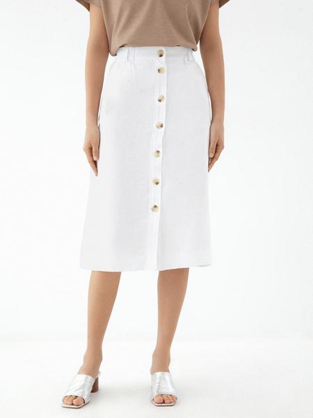 Прямая юбка с пуговицами - фото 3