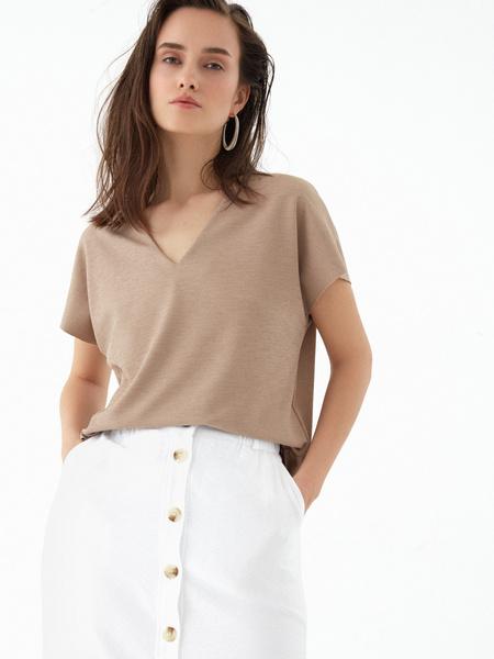 Прямая юбка с пуговицами - фото 4