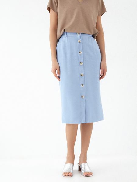 Прямая юбка с пуговицами - фото 2