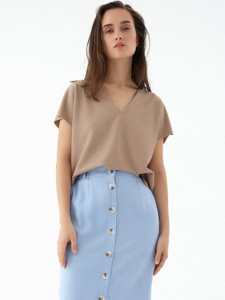 Прямая юбка с пуговицами - фото 5