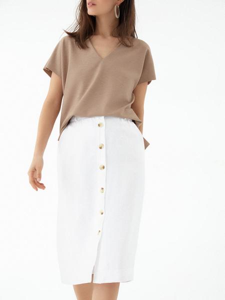 Прямая юбка с карманами - фото 2