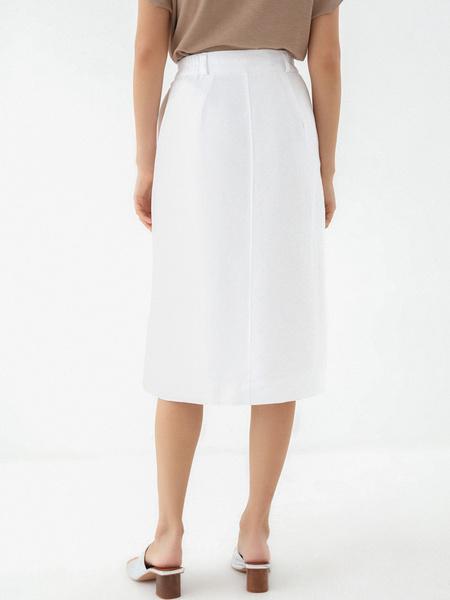 Прямая юбка с карманами - фото 5
