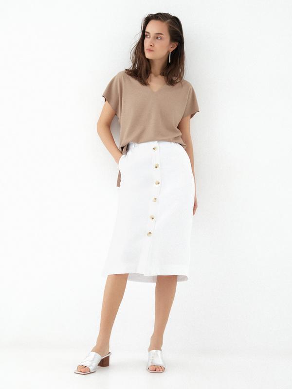 Прямая юбка с карманами