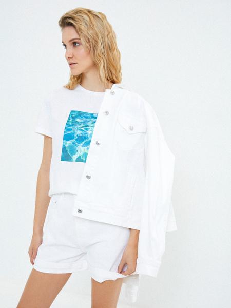 Джинсовые шорты с подворотами - фото 6