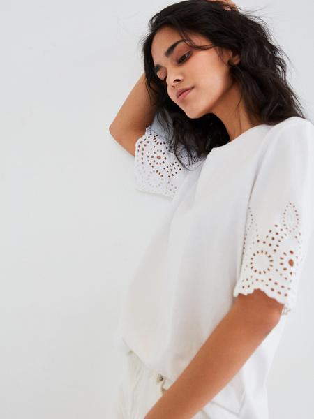 Блузка с ажурными рукавами - фото 3