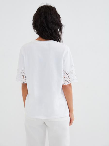 Блузка с ажурными рукавами - фото 4