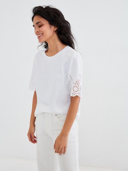 Блузка с ажурными рукавами - фото 5