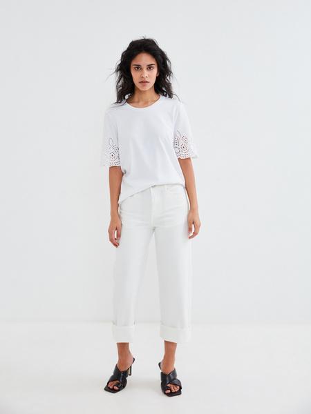 Блузка с ажурными рукавами - фото 6
