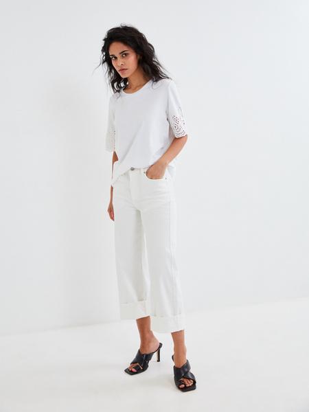 Блузка с ажурными рукавами - фото 7