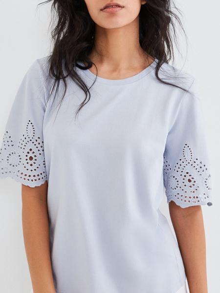 Блузка с ажурными рукавами - фото 2