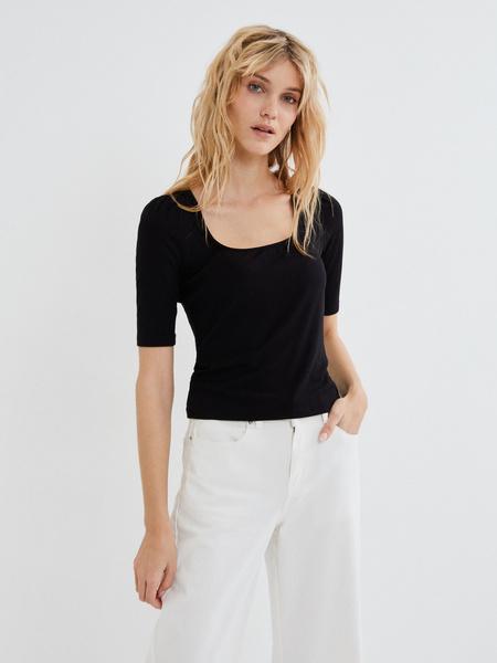 Блузка с рукавами-фонариками - фото 1