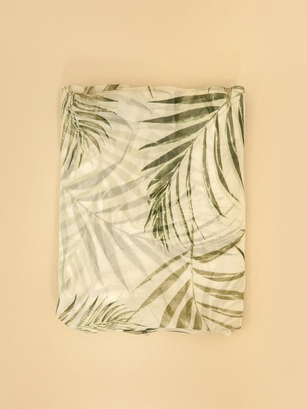 Шарф с тропическим узором - фото 4