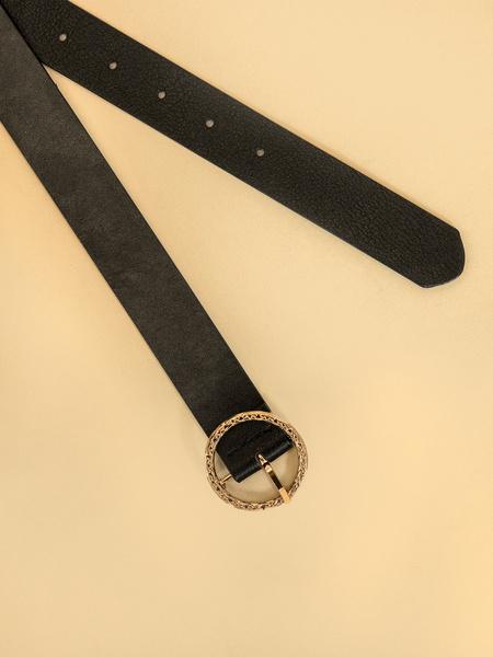 Ремень с круглой пряжкой - фото 2