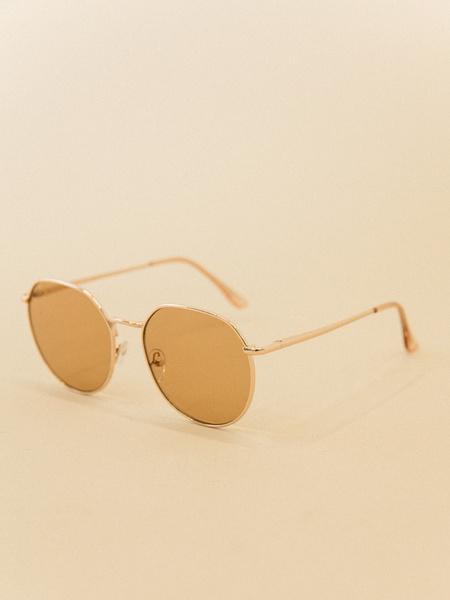 Солнцезащитные очки в металлической оправе - фото 2