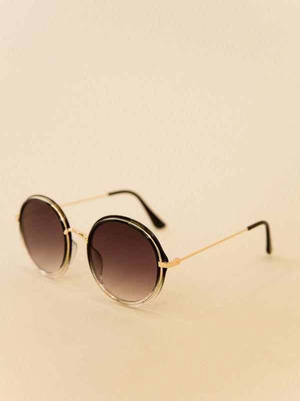 Солнцезащитные очки круглой формы - фото 4