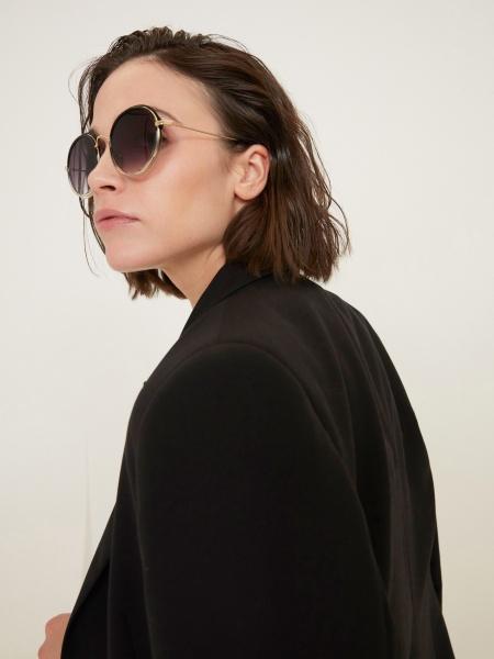 Солнцезащитные очки круглой формы - фото 5