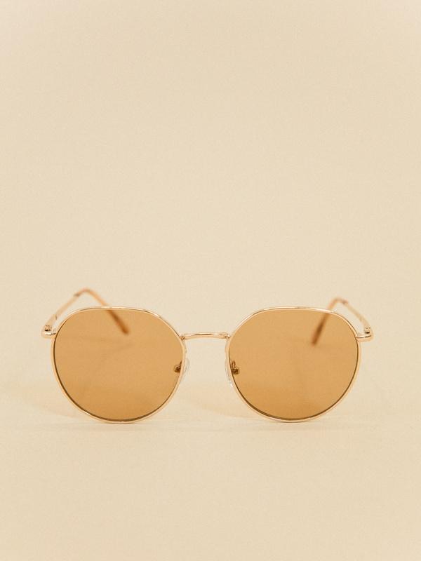 Солнцезащитные очки в металлической оправе - фото 3