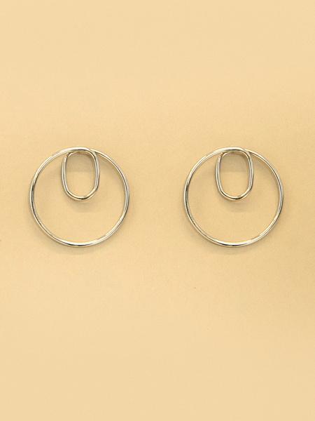 Серьги-кольца с двойным оборотом - фото 2
